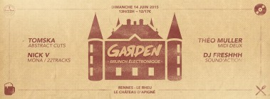 Le Garden le brunch électronique estival